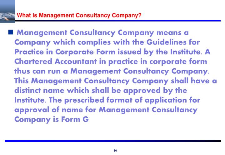 What is Management Consultancy Company?