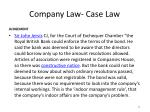 company law case law4