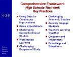 comprehensive framework high schools that work key practices