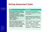writing assessment tasks