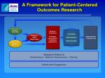 a framework for patient centered outcomes research