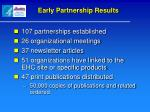 early partnership results