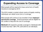 expanding access to coverage
