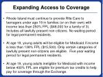 expanding access to coverage1