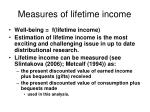 measures of lifetime income