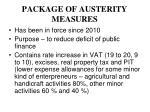 package of austerity measures