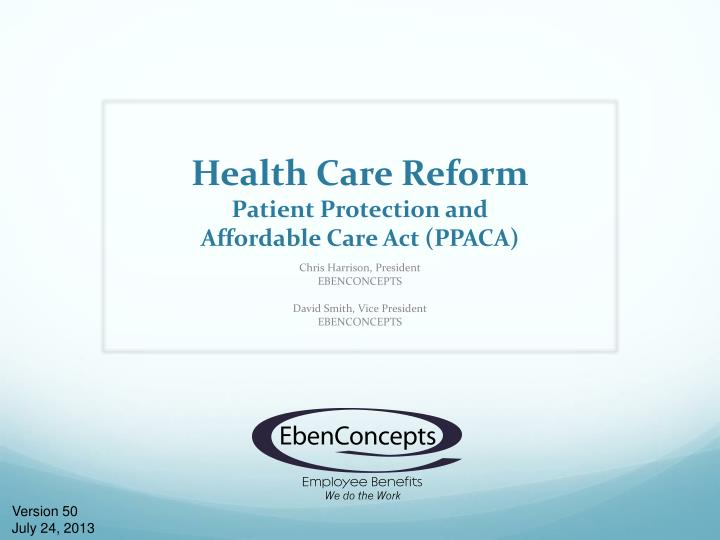 health care reform patient protection and affordable care act ppaca n.