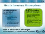 health insurance marketplaces