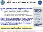 dasd systems engineering mission