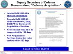 deputy secretary of defense memorandum defense acquisition