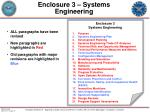 enclosure 3 systems engineering
