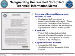 safeguarding unclassified controlled technical information memo