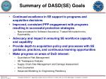 summary of dasd se goals