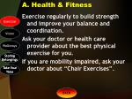 a health fitness