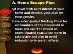 a home escape plan
