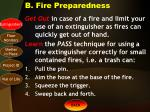 b fire preparedness