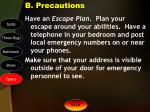 b precautions4