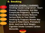 d smoking