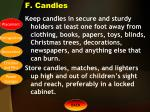 f candles
