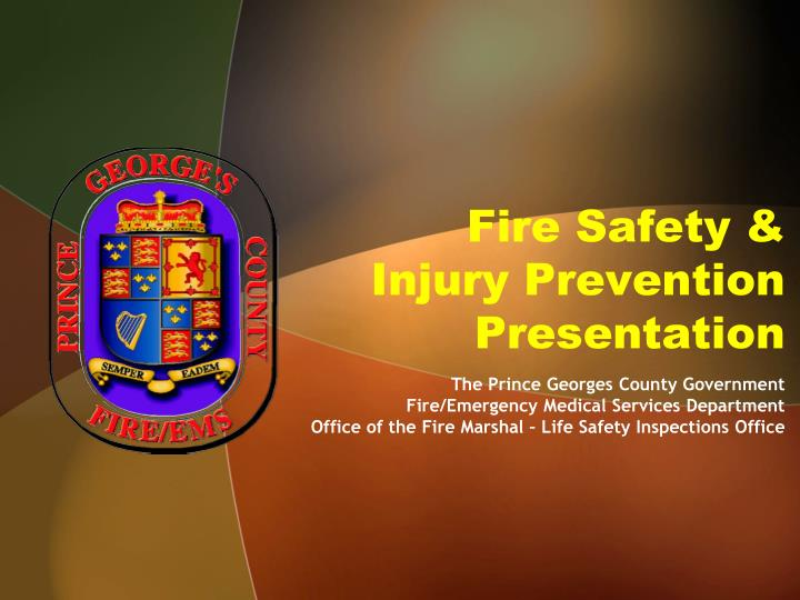 fire safety injury prevention presentation n.