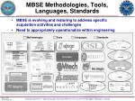 mbse methodologies tools languages standards
