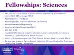 fellowships sciences