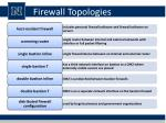 firewall topologies