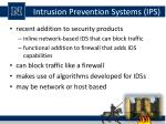 intrusion prevention systems ips