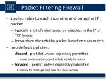 packet filtering firewall