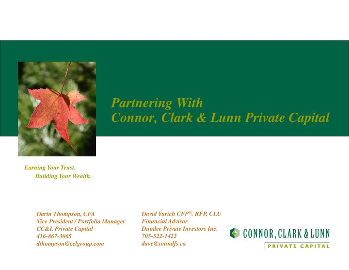 partnering with connor clark lunn private capital n.