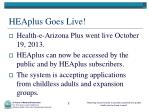 heaplus goes live