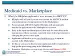 medicaid vs marketplace