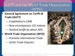 gatt and the world trade organization wto