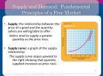 supply and demand fundamental principles of a free market