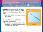 supply and demand fundamental principles of a free market1