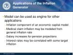 applications of the inflation generator