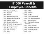 51000 payroll employee benefits