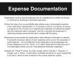 expense documentation