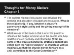 thoughts for money matters chapter 6