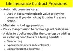 life insurance contract provisions1