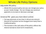 whole life policy options1