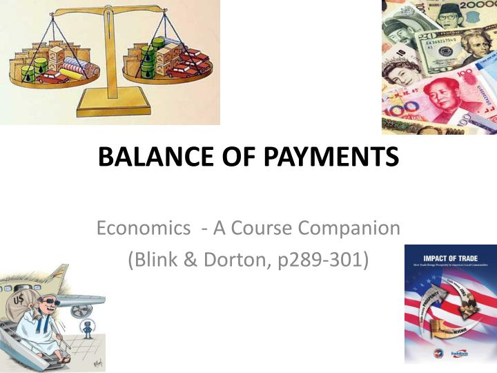 balance of payments n.
