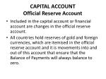 capital account official reserve account