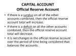 capital account official reserve account1