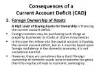 consequences of a current account deficit cad1