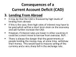 consequences of a current account deficit cad3