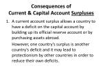 consequences of current capital account surpluses