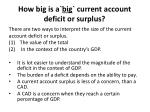 how big is a big current account deficit or surplus