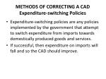 methods of correcting a cad expenditure switching policies