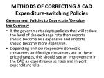 methods of correcting a cad expenditure switching policies1